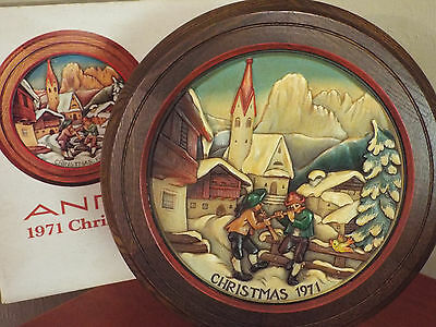 ANRI 1971 Christmas Plate Christmas in St. Jakob in Groden L/E 4118/6000