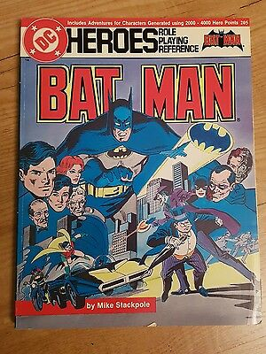 batman heroes role playing reference book Mike Stackpole 1986