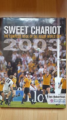 Sweet Chariot 2003 Rugby World Cup Book / L.dallaglio & M Johnson Signed