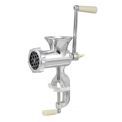 Retro Hand Operated Manual Kitchen Clamp Grinder Meat Mincer Maker Beef N3J5