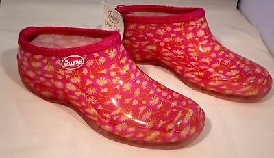 Briers Ladies Gardening Clogs Shoes Pink Daisy Size UK4 BRAND NEW