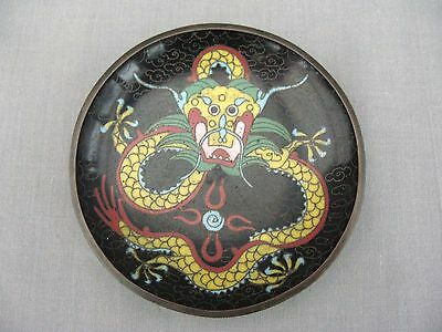 A superb Cloisonne Dragon design dish - early 1900s ?