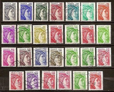 L010 Lot 27 Timbres Marianne SABINE GANDON 1978 1979 1980 1981 SERIE