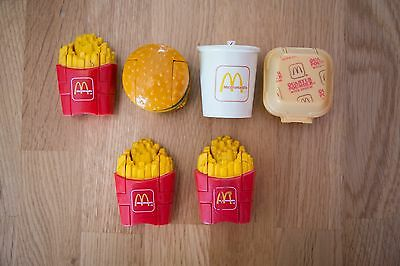 Six McDonalds Changeables Happy Meal Toys