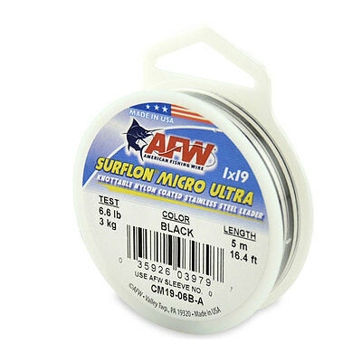 AFW Surflon Micro Ultra, Nylon Coated Stainless Lead Wire All Sizes