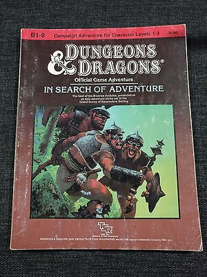 Tsr D&d Dungeons & Dragons Rpg - B1-9 In Search Of Adventure