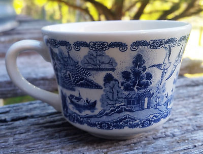 Blue Willow Pattern - Tea Cup Made in New Zealand