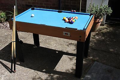 4-in-1 Multi Combi Games Table - Football, Air Hockey, Pool & Table Tennis