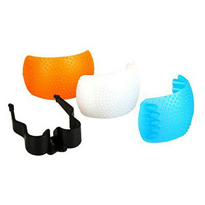 3pcs White Yellow Blue Color Puffer Pop-Up Flash Soft Diffuser Cover Dome B9Y3