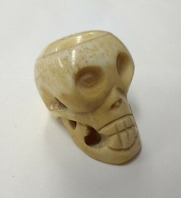 Carved Human Skull ? - Weird Cool Gothic Steampunk Goth Macabre Momento Mori