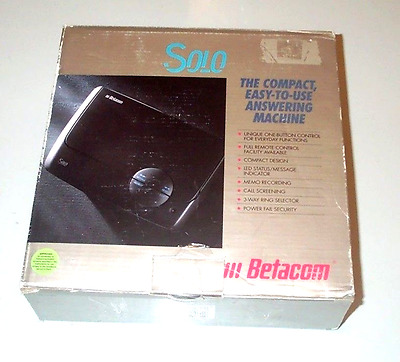 Telephone Answering Machine Betacom Solo Compact With Micro Cassette Genuine New