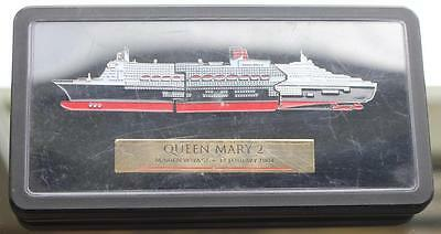 Cunard Line Queen Mary Qm2 Maiden Voyage Sectional Multipart Pin Boxed 2004