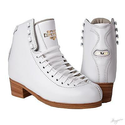Graf Edmonton special white Figure Skates BOOT ONLY -V insert or not - Free P&P
