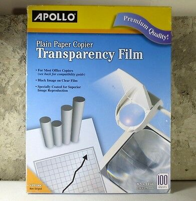 New Other - Apollo Plain Paper Copier Transparency Film 100 Sheets