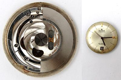 EDOX original automatic ETA 2472 watch movement for parts / repair (5238)