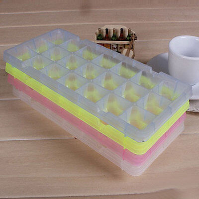 21 Cell Ice Cube Square Tray Freeze Mold Bar Candy Frozen Maker DIY Multi Color
