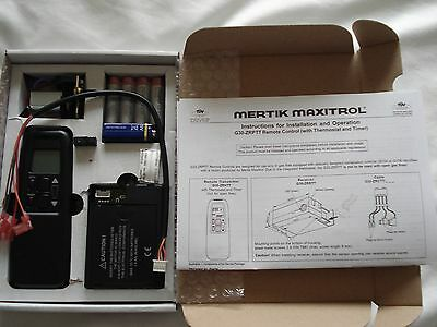 Gas Fire Thermostatic/Timer  Remote Control Set Mertik Maxitrol G30 ZRPTTB/800