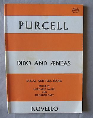 PARTITION OPERA PURCELL DIDO AND AENEAS VOCAL & FULL SCORE Ed. NOVELLO