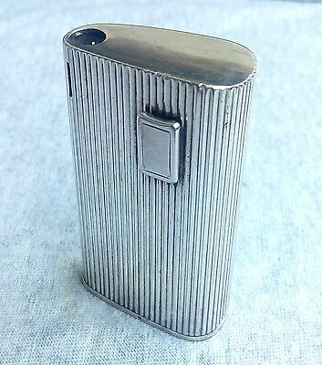 Vintage RONSON Made in France Silver Plated Electronic Battery Butane Lighter