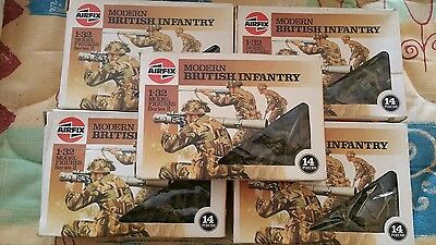 Airfix soilders 1/32 Modern British Infantry 1986 price is for 1 box