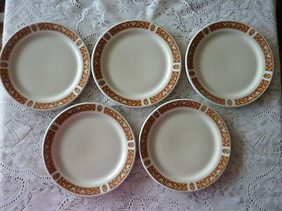 Maddock England Luncheon Plates X 5 Florentine