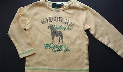 Mini Boden vintage boy HTF 18-24 mo. shirt GUC. Midwest Saddle Giddy up