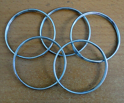 """50mm/2"""" Metal Split Rings CLEARANCE - 200 For Only £7.50 - Postfree UK"""