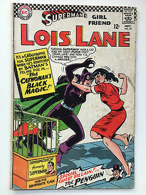 DC Lois Lane 70 Comic Nov 1966 Catwoman Superman Penguin VFN Comic Silver Age