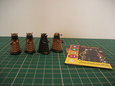 Painted Doctor Who Dalek Cult of Skaro miniatures with cards