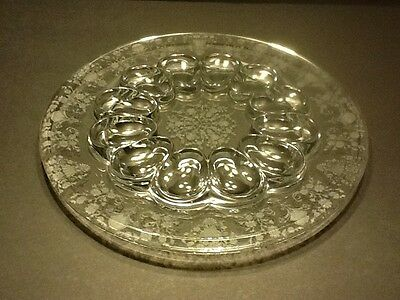 "Elegant Glass Duncan Miller First Love #30 12"" Egg Plate"