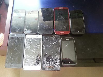9 Broken Phones Lot