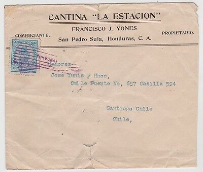 Honduras Cover to Chile 1920