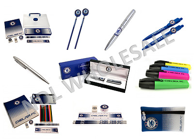 Chelsea FC Back to School Stationery Set Pen Pencil Case Book Student Pad Gift