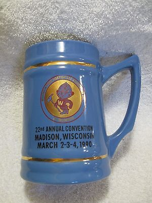 WISCONSIN STATE FIREFIGHTERS ASSOC. Commemorative Stein-Madison,WI-Collectible!!