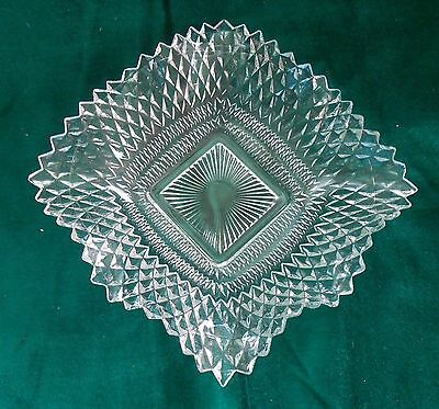 Vintage Federal Glass Clear Traditions Bon Bon Dish Free Shipping