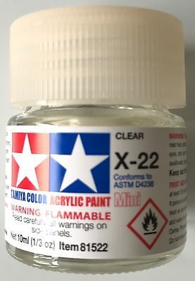 Tamiya 81522 Acrylic Mini X-22 Clear 10ml NEW