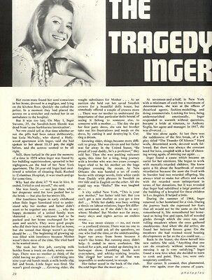 The Tragedy Of Inger Stevens Article & Picture(s)