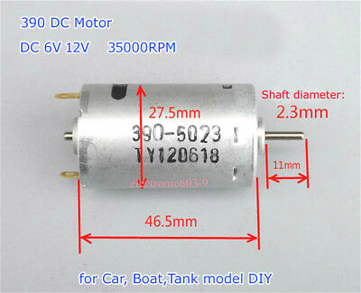 DC6V 12V 35000RPM 390 Motor High Speed Strong Magnetic Large Torque Toy Car Boat