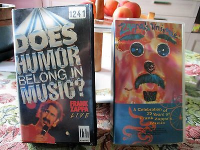 Frank Zappa -Does Humor Belong In Music?+Zappa's Universe---2 Vhs---