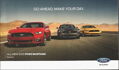 Original 2015 Ford MUSTANG  fold-out  Sales Brochure
