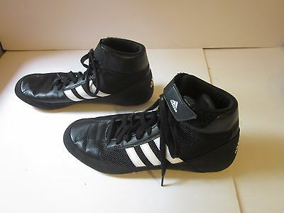 Adidas Wrestling Shoes Mens Size 7 Black White MMA