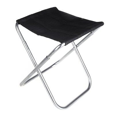 Portable Folding Aluminum Oxford Cloth Chair Outdoor Patio Fishing Camping K4Q5