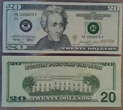 $20 Bill - Best Movie Prop Money - Fake Prank - Looks Real - Free Shipping!