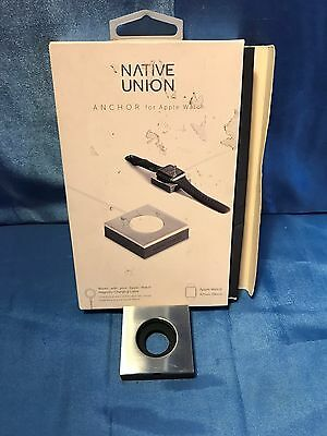Native Union - ANCHOR Base for Apple Watch 38mm and 42mm - Chrome & Gray
