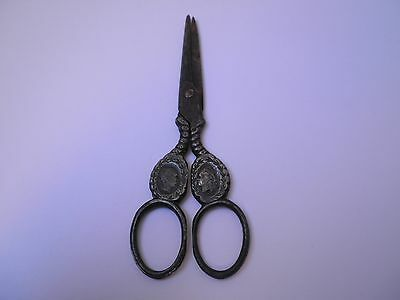 RARE ANTIQUE 19th CENTURY SCISSORS-KING FRANZ JOSEPH&QUEEN ELISABETH+GIFT MEDAL