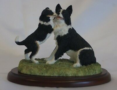 Border Fine Arts Border Collie and puppy figure - James Herriot