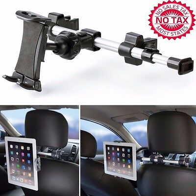 Car Headrest Mount Holder with 360 Degrees Rotation 7-10.2 Inch Tablets - Black