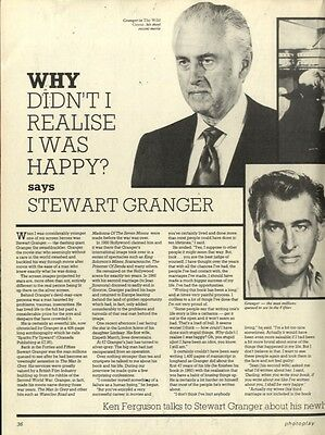 Stewart Granger : Why I Didn't Realise I Was Happy? Article & Picture(S)