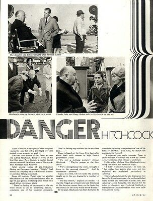 Danger : Alfred Hitchcock At Work Filming Topaz Article & Picture(s)