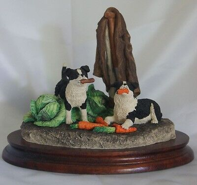 Large Border Fine Arts Border Collie figure - Helping Out B0202  Limited Edition